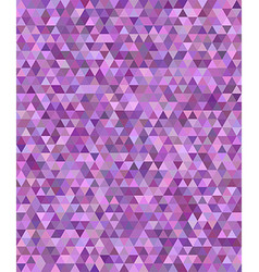 Purple regular triangle mosaic background design vector