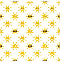 seamless pattern with sun icons vector image vector image