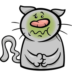 sick cat cartoon vector image
