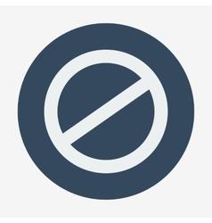 Single flat deny icon cancel vector
