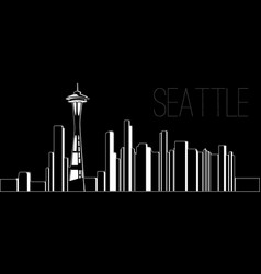 Skyline of seattle vector