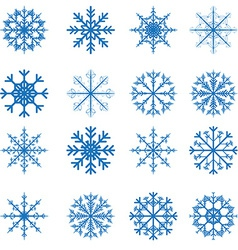 snowflakes set for Christmas design vector image