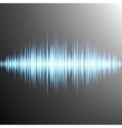 Sound wave on Transparent background EPS 10 vector image