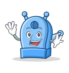 waving pencil sharpener character cartoon vector image