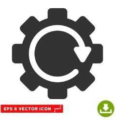 Gear rotation direction eps icon vector