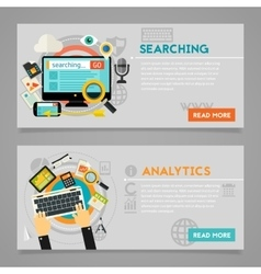 Searching analytics concept vector
