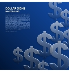 Background with dollar signs vector