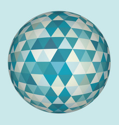 Abstract 3d triangles sphere vector