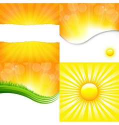 Shiny Backgrounds Set vector image