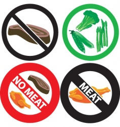 No meat sign vector