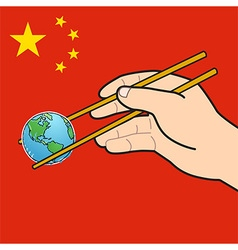 World chopsticks vector