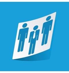 Work group sticker vector image