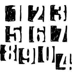 Numbers in black square sketch vector