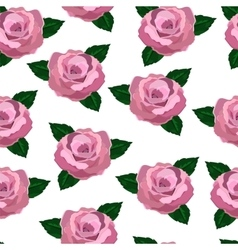 Seamless wallpaper pink roses vector