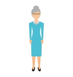 Grandmother isolated icon design vector