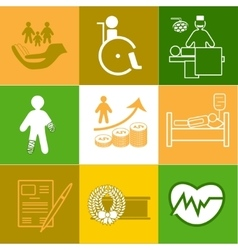 Life and healthy insurance icons collection vector