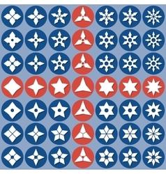 Abstract icons shurike vector