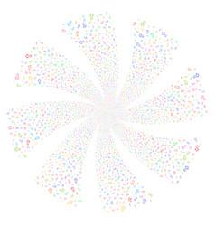 Arrow fireworks swirl flower vector