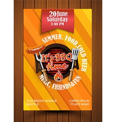Bbq grill flyer vector