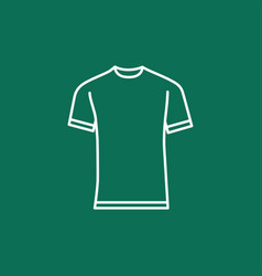Blank t-shirt template vector