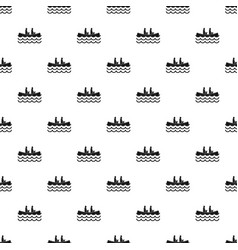 Canoeing pattern vector