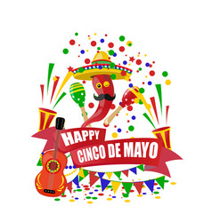 Cinco de mayo an inscription with a desire for vector