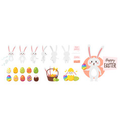 easter bunny character for animation vector image