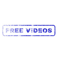 Free videos rubber stamp vector
