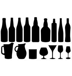glassware vector image vector image