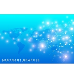 Graphic abstract background communication big vector