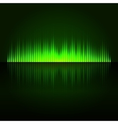 Green Digital Abstract Equalizer Background vector image