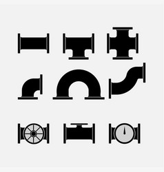icons of tubes pipes stroiyka vector image vector image