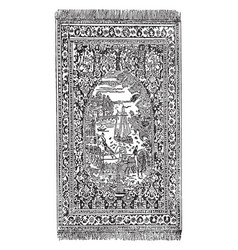 Ispahan rug are representing a royal pageant vector