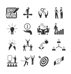 Mentoring icons set vector