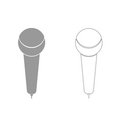 Microphone the grey set icon vector