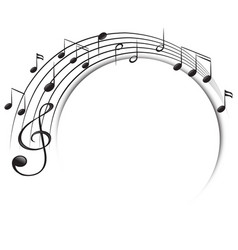 music notes on scale vector image vector image