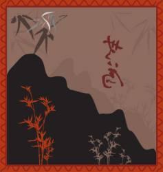 oriental landscape vector image vector image