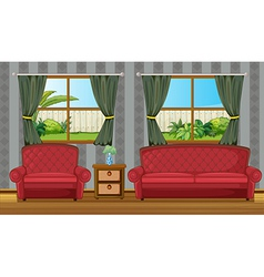 Red sofaset vector image