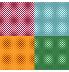 Set of bright seamless patterns with dots vector image