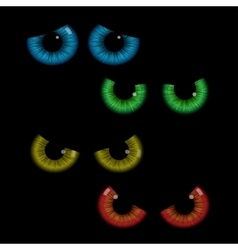 Set of colorful eye balls vector image