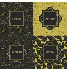 Set of geometric line hipster seamless pattern vector