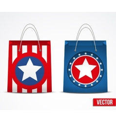 Set of star shopping bag vector image vector image