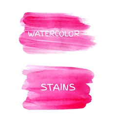 Set of watercolor stains vector image vector image