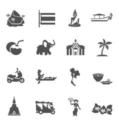 Thailand travel icons set vector