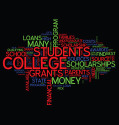 The best way to find college loans text vector