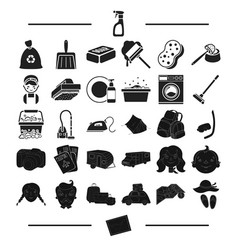 Tourism trip hygiene and other web icon in black vector