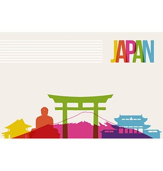 Travel Japan destination landmarks skyline vector image vector image