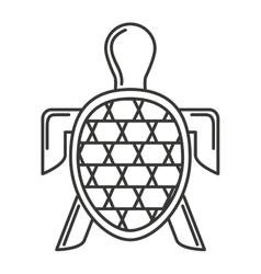 Turtle sea silhouette icon vector