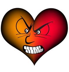 Very furious heart vector