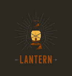 Vintage hand drawn lantern poster concept perfect vector